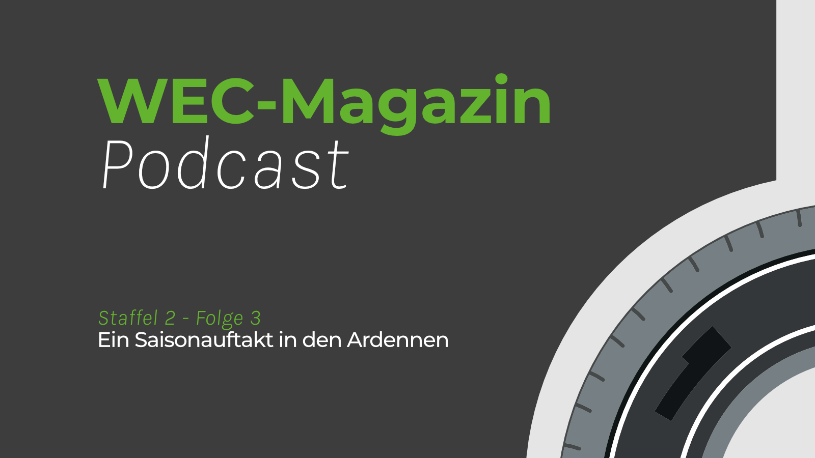 Titelcover WEC-Magazin Podcast