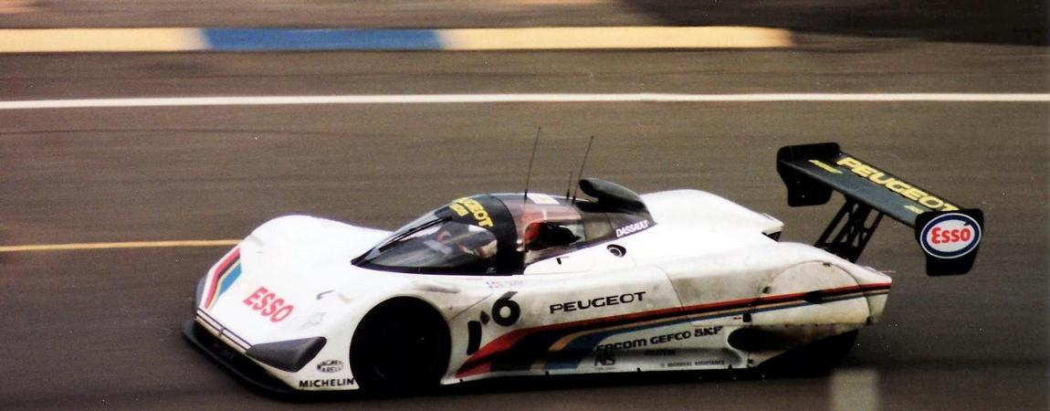 Der Le Mans-Rennwagen von Peugeot