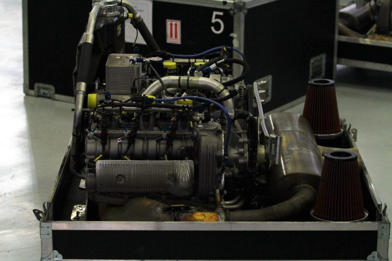 Ein WEC-Motor auf der Transport-Palette