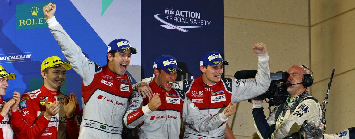 Siegreiche Fahrer nach Abschluss der WEC-Saison