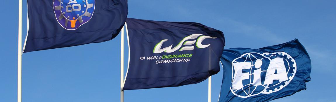 Die Flaggen des ACO, der WEC und der FIA