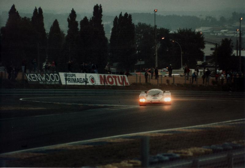 Jaguar in Le Mans 1988 bei Nacht