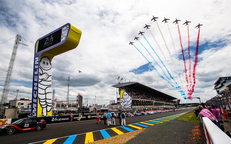 Der Start der 24 Stunden von Le Mans 2018
