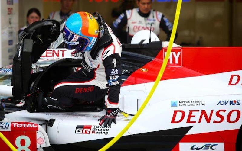 Fernando Alonso beim Testtag in Le Mans 2018