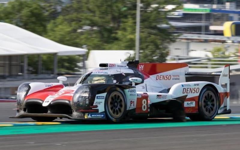 Toyota umrundete den Kurs beim Testtag als schnellster
