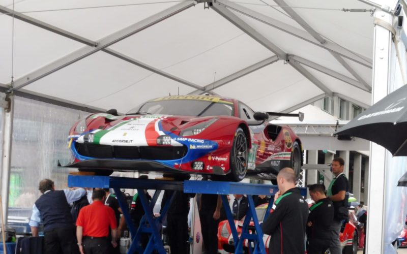 Der Ferrari 488 GTE auf dem Prüfstand