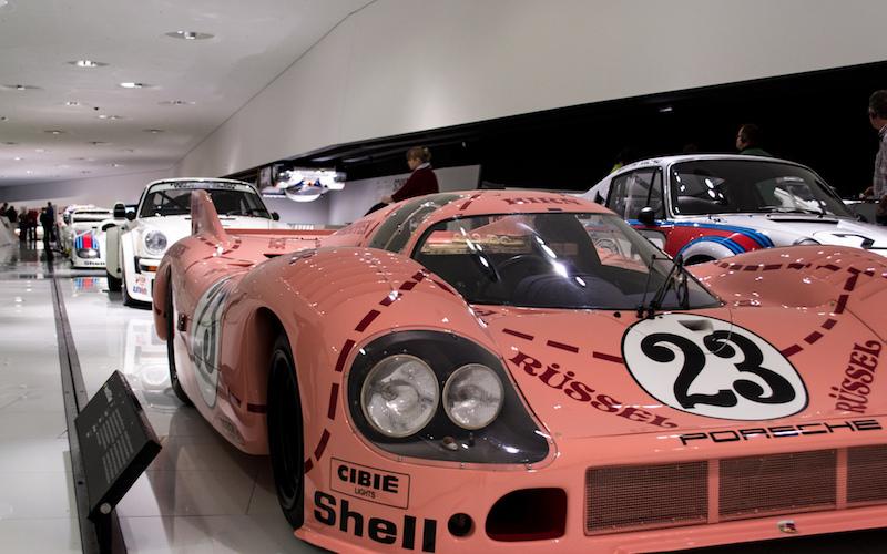 Der Porsche 917 in Pink-Pig Lackierung in Le Mans