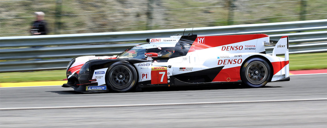 Der Toyota TS050 Hybrid in Spa-Francorchamps
