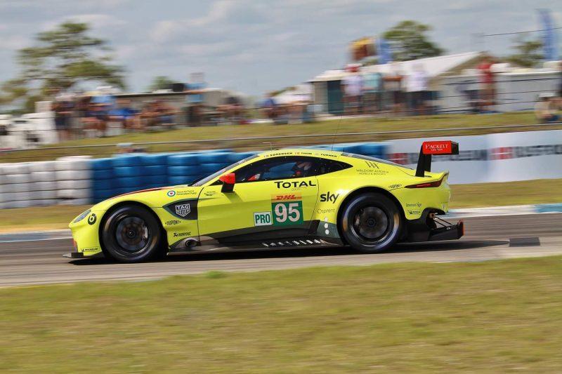 Der Aston Martin auf seiner schnellsten Trainingsrunde in Sebring
