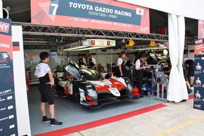 Der Toyota mit der Nummer sieben in Sebring