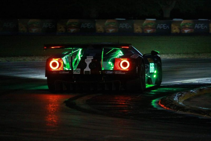 Der Ford GT beim Nachttraining in Sebring