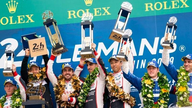 Alonso, Buemi und Nakajima sind LMP-Weltmeister 2018/19.
