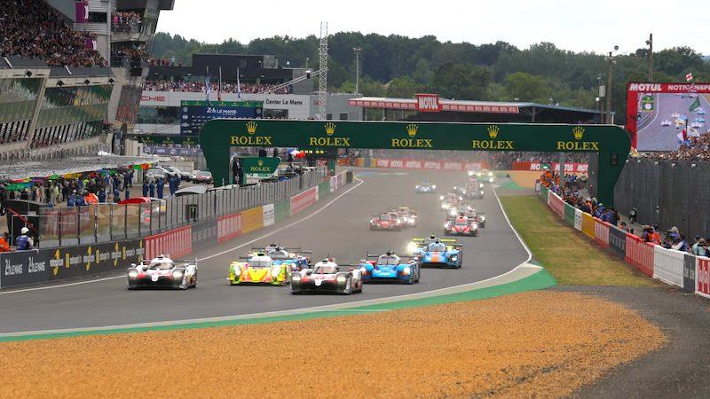 Der Start bei den 24 Stunden von Le Mans