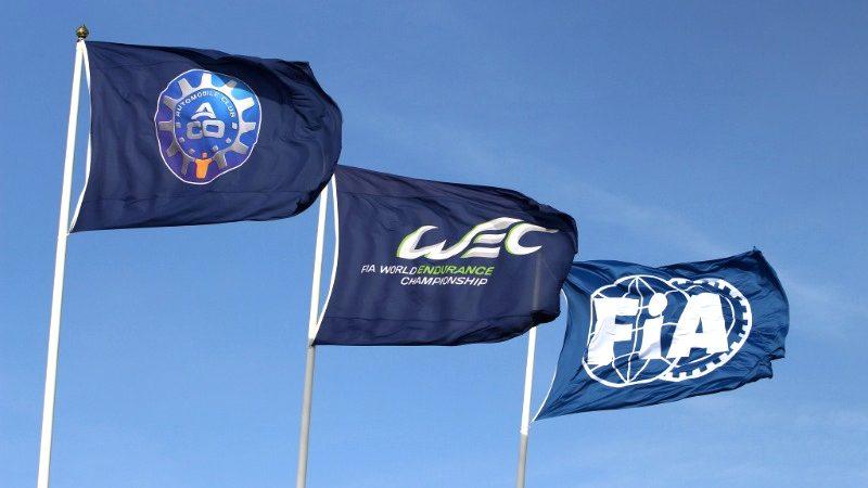 Die Flaggen von FIA, ACO und WEC