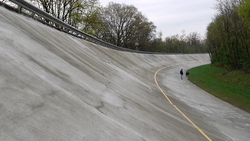 Die Steilkurve in Monza
