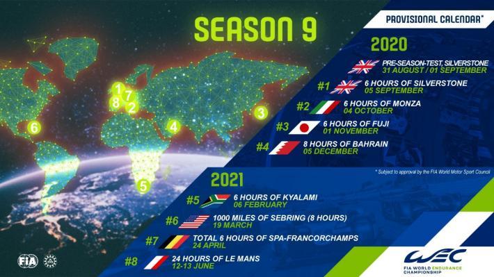 Der Kalender für die WEC-Saison 2020/2021