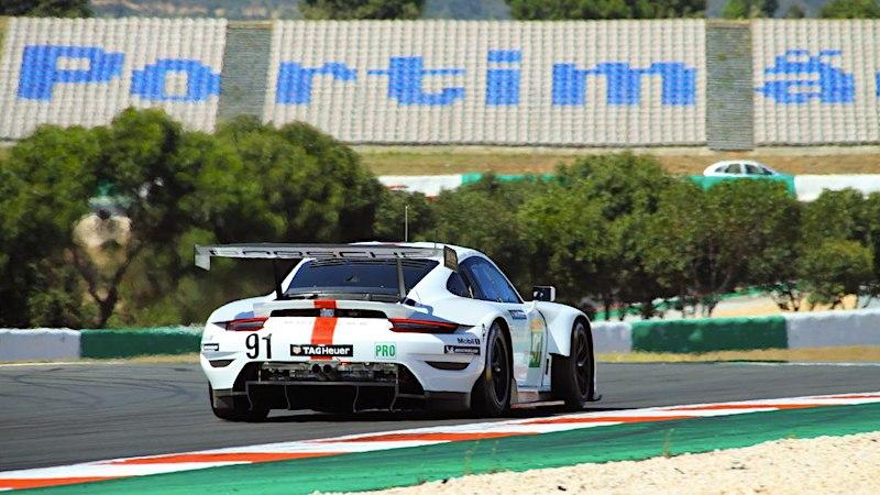 Der Porsche #91 im ersten Training von Portimão